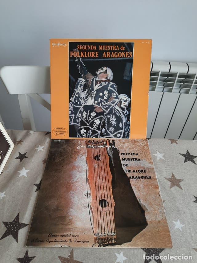 DISCOS DE VINILLO PRIMERA MUESTRA DE FOLKLORE ARAGONES 2 DISCOS (Música - CD's Otros Estilos)