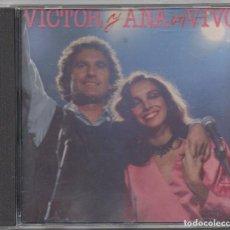 CDs de Música: VICTOR MANUEL Y ANA BELEN - EN VIVO / CD ALBUM DE 1992 / MUY BUEN ESTADO RF-8982. Lote 236452860
