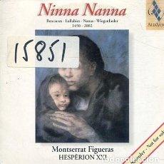 CDs de Música: NINNA NANNA (MONTSERRAT FIGUERAS) (CD SINGLE CARTON PROMO 2002). Lote 236688490