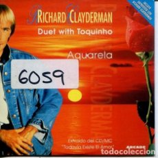 CDs de Música: RICHARD CLAYDERMAN CON TOQUINHO / AQUARELA (CD SINGLE CARTON PROMO 1996). Lote 236693715