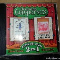 CDs de Música: CARNAVAL DE CÁDIZ CD GRANDES COMPARSAS SONRISILLAS Y ESTO ES CARNAVAL. Lote 236693795