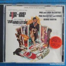 CDs de Música: LIVE AND LET DIE (ORIGINAL MOTION PICTURE SOUNDTRACK) (CD, ALBUM). Lote 236695540