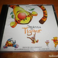 CDs de Música: LA PELICULA DE TIGGER DISNEY BANDA SONORA EN ESPAÑOL CD ALBUM 2000 CONTIENE 14 TEMAS. Lote 236729390