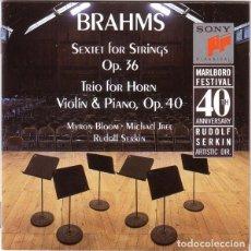 CDs de Música: BRAHMS SEXTET OP.36 & TRIO OP.40.SERKIN.SONY. Lote 236730545