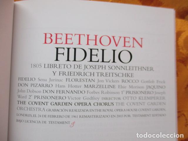 CDs de Música: BEETHOVEN - FIDELIO (2 CDS + LIBRO) COMO NUEVO - Foto 7 - 236802890