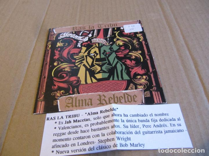 RAS LA TRIBU ‎– ALMA REBELDE CD SINGLE CARTON PROMO CADENA 100-2 TEMAS 1994 (Música - CD's Reggae)