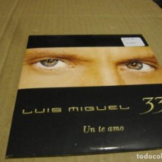 CDs de Música: LUIS MIGUEL 'UN TE AMO' CD SINGLE PROMO 2003 33. Lote 236844265
