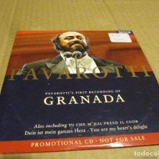 CDs de Música: PAVAROTTI . GRANADA - TU CHE M'HAI PRESO..BRINDISI PROMO 3 TRACKS CD SINGLE CARTÓN. Lote 236845080
