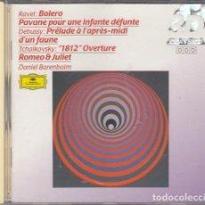 CDs de Música: RAVEL BOLERO - DEBUSSY - TCHAIKOVSKY - DANIEL BARENBOIM - CD DEUTSCHE GRAMOPHON 3D CLASSICS #. Lote 236909615