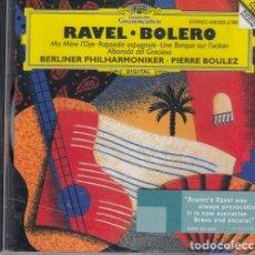 CDs de Música: RAVEL BOLERO + RAPSODIA ESPAÑOLA + 3 - FILARMONICA DE BERLIN PIERRE BOULEZ - CD DEUTSCHE GRAMOPHON #. Lote 236909920