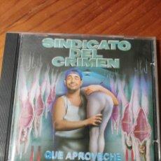 CDs de Música: CD SINDICATO DEL CRIMEN. QUE APROVECHE. RAP, HIP HOP. Lote 236967060