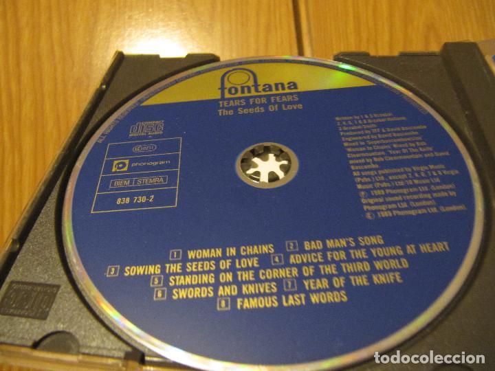 CDs de Música: TEARS FOR FEARS - THE SEEDS OF LOVE CD 1989 - Foto 3 - 236973400