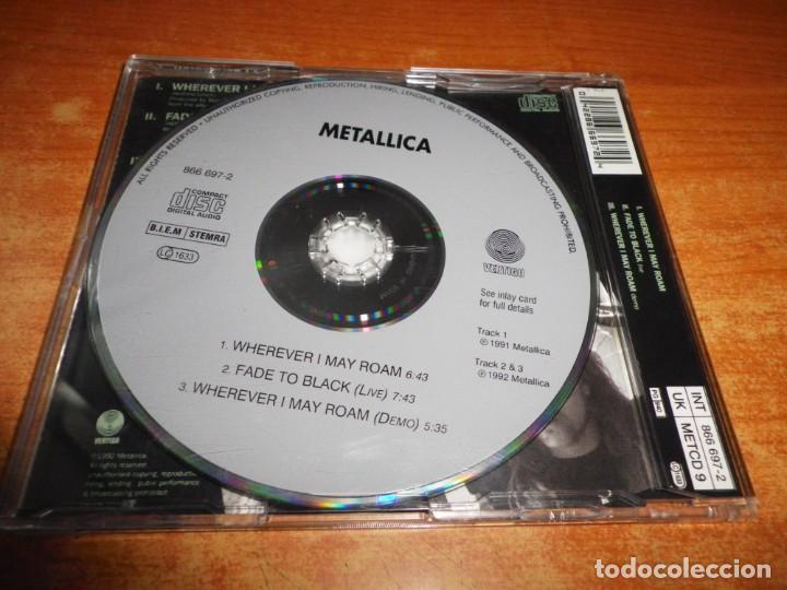 CDs de Música: METALLICA Wherever I may roam CD SINGLE AÑO 1992 UK PORTADA DE PLASTICO LIVE DEMO CONTIENE 3 TEMAS - Foto 2 - 236991455