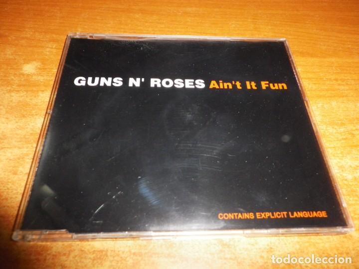 GUNS N' ROSES AIN'T IT FUN CD SINGLE AÑO 1993 ALEMANIA PORTADA DE PLASTICO CONTIENE 3 TEMAS (Música - CD's Rock)