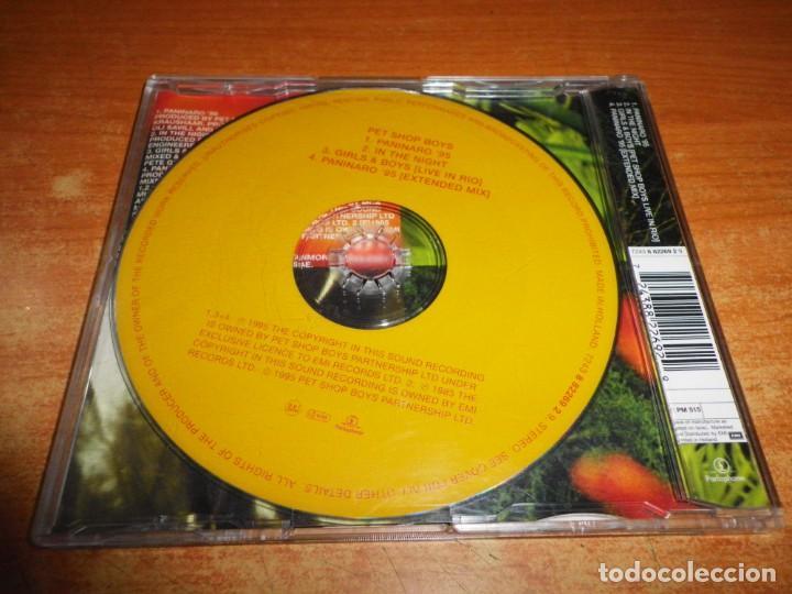 CDs de Música: PET SHOP BOYS Paninaro 95 PSB CD MAXI SINGLE DEL AÑO 1995 HOLANDA PORTADA DE PLASTICO 4 TEMAS - Foto 2 - 236994520