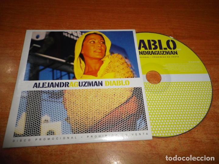 ALEJANDRA GUZMAN DIABLO CD SINGLE PROMO ESPAÑA DEL AÑO 2002 PORTADA DE CARTON 1 TEMA (Música - CD's Latina)