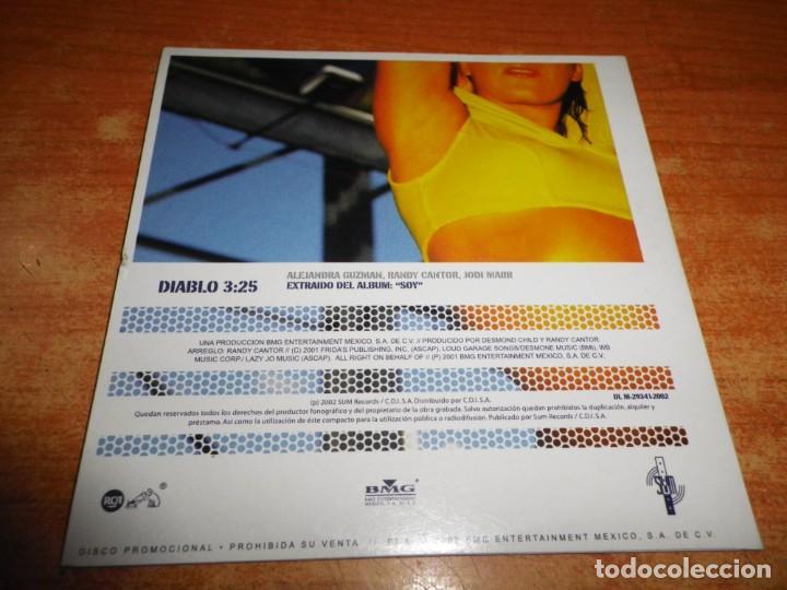 CDs de Música: ALEJANDRA GUZMAN Diablo CD SINGLE PROMO ESPAÑA DEL AÑO 2002 PORTADA DE CARTON 1 TEMA - Foto 2 - 236995500