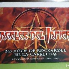 CDs de Música: ÁNGELES DEL INFIERNO - 20 AÑOS DE ROCK & ROLL EN LA CARRETERA - DISCOGRAFÍA COMPLETA 1984 2003. Lote 236997155