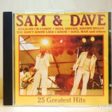 CDs de Música: SAM & DAVE - 25 GREATEST HITS - CD -. Lote 237010605