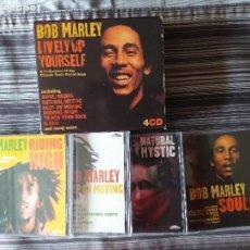 CDs de Música: 4 CDS BOB MARLEY EN CAJA LIVELY UP YOURSELF, SOUL REBEL, NATURAL MISTYC RIDING HIGH. Lote 237036060