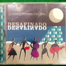 CDs de Música: DESAFINADO - 37 CLASICOS INOLVIDABLES DEL BRASIL - 2 CD RF-9011. Lote 237066250