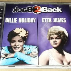CDs de Música: CD - BILLIE HOLIDAY AND ETTA JAMES - BACK TO BACK - MADE IN USA - ETTA JAMES / BILLIE HOLIDA. Lote 237264365