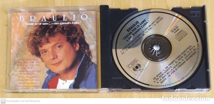 CDs de Música: BRAULIO (CORTAR POR LO SANO Y OTROS GRANDES EXITOS!) CD 1989 USA - Foto 3 - 237306175