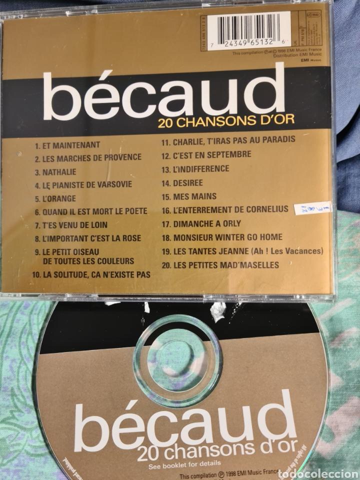 CDs de Música: GILBERT BECAUD.20 CHANSONS DOR - Foto 2 - 237324235