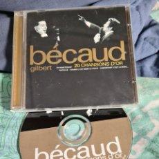 CDs de Música: GILBERT BECAUD.20 CHANSONS D'OR. Lote 237324235