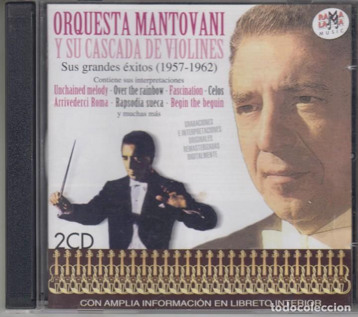 ORQUESTA MANTOVANI Y SU CASCADA DE VIOLINES DOBLE CD SUS GRANDES ÉXITOS 1957-1962 RAMA-LAMA (Música - CD's Clásica, Ópera, Zarzuela y Marchas)