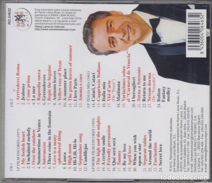 CDs de Música: Orquesta Mantovani y su cascada de violines doble cd Sus grandes éxitos 1957-1962 Rama-lama - Foto 2 - 237371945