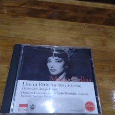 CDs de Música: 003. MARÍA CALLAS. LIVE IN PARIS.. Lote 237435990