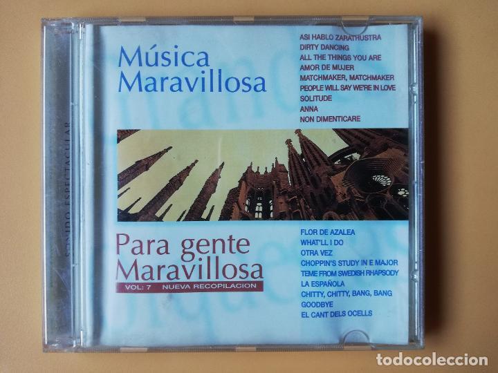 MÚSICA MARAVILLOSA PARA GENTE MARAVILLOSA. NUEVA RECOPILACIÓN. VOL. 7 - DIVERSOS AUTORES (Música - CD's Melódica )