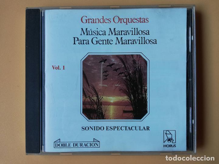 MÚSICA MARAVILLOSA PARA GENTE MARAVILLOSA. GRANDES ORQUESTAS. SONIDO ESPECTACULAR. VOL. 1 - DIVERSOS (Música - CD's Melódica )