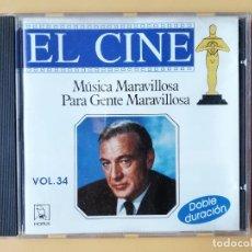 CDs de Música: MÚSICA MARAVILLOSA PARA GENTE MARAVILLOSA. EL CINE. VOL. 34 - DIVERSOS AUTORES. Lote 237445870