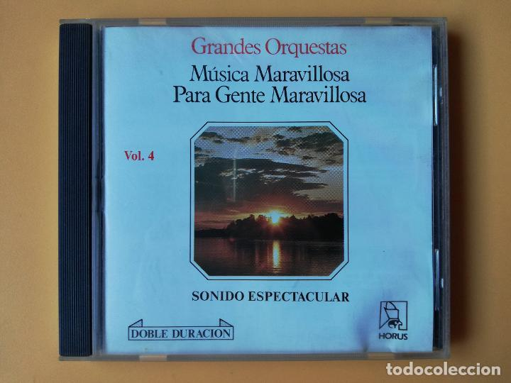 MÚSICA MARAVILLOSA PARA GENTE MARAVILLOSA. GRANDES ORQUESTAS. SONIDO ESPECTACULAR. VOL. 4 - DIVERSOS (Música - CD's Melódica )