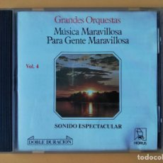 CDs de Música: MÚSICA MARAVILLOSA PARA GENTE MARAVILLOSA. GRANDES ORQUESTAS. SONIDO ESPECTACULAR. VOL. 4 - DIVERSOS. Lote 237445895