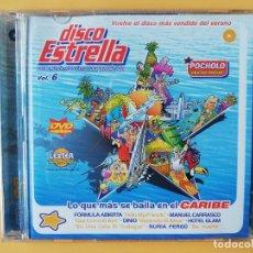 CDs de Música: DISCO ESTRELLA. LOS 60 AUTÉNTICOS ÉXITOS DEL VERANO 2003. VOL. 6. CD 3 Y DVD - DIVERSOS AUTORES. Lote 237446015