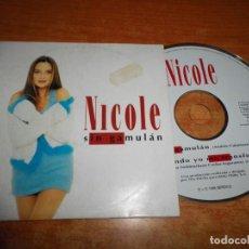 CDs de Música: NICOLE SIN GAMULÁN CD SINGLE CARTON DEL AÑO 1996 ESPAÑA ANDRES CALAMARO CONTIENE 2 TEMAS. Lote 237446690