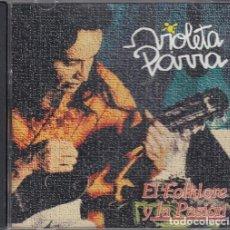 CDs de Música: VIOLETA PARRA - EL FOLKLORE Y LA PASION - CD EDITADO EN CHILE #. Lote 237552090