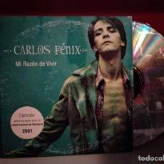 CDs de Música: CARLOS FENIX / MI RAZON DE VIVIR (CD SINGLE CARTON PROMO 2001). Lote 237593145
