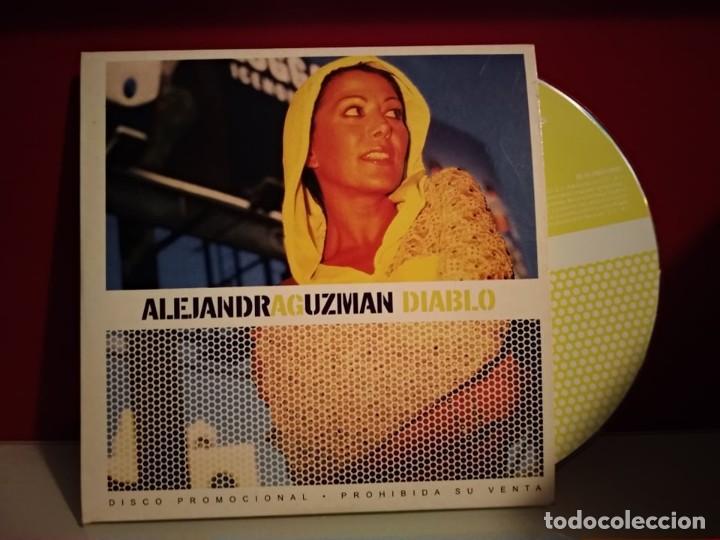 ALEJANDRA GUZMAN DIABLO CD SINGLE PROMO ESPAÑA DEL AÑO 2002 PORTADA DE CARTON 1 TEMA (Música - CD's Pop)