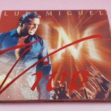 CDs de Música: CD-LUÍS MIGUEL-VIVO-LIBRETO-2000-WEA-LIBRETO-COMO NUEVO. Lote 237594500