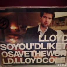 CDs de Música: LLOYD COLE / SO YOU´D LIKE TO SAVE THE WORLD - FOR THE PLEASURE OF YOUR COMPANY (CD SINGLE. Lote 237595190