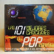 CDs de Música: CRÓNICAS MARCIANAS - LAS 101 MEJORES CANCIONES DEL POP ESPAÑOL - 5 CD'S -. Lote 237596785