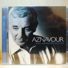 CDs de Música: AZNAVOUR - LOS GRANDES ÉXITOS - DOBLE CD -. Lote 237597395