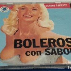 CDs de Música: CD ( BOLEROS CON SABOR - VERANO CALIENTE) 1993 CAMBIO 16 Nº 1 - ORQUESTA LOS SONEROS DEL CALLAO. Lote 237621920