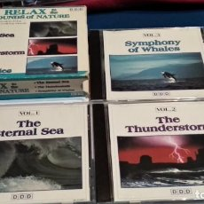 CDs de Música: CD BOX TRIPLE 3 CDS ( RELAX TO THE SOUNDS OF NATURE ) 1993 MADACY, CANADA. Lote 237623245