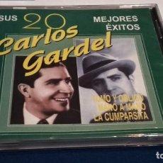 CDs de Música: CD ( CARLOS GARDEL - SUS 20 MEJORES ÉXITOS ) HELIX - NUEVO PRECINTADO. Lote 237632045