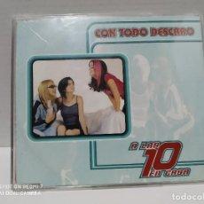 CDs de Música: A LAS 10 EN CASA / CON TODO DESCARO - CDSINGLE. Lote 237689240